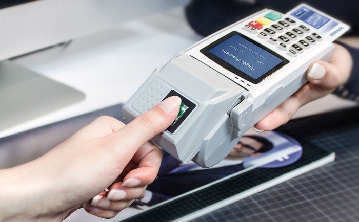 biometric payment card integrating T-Shape